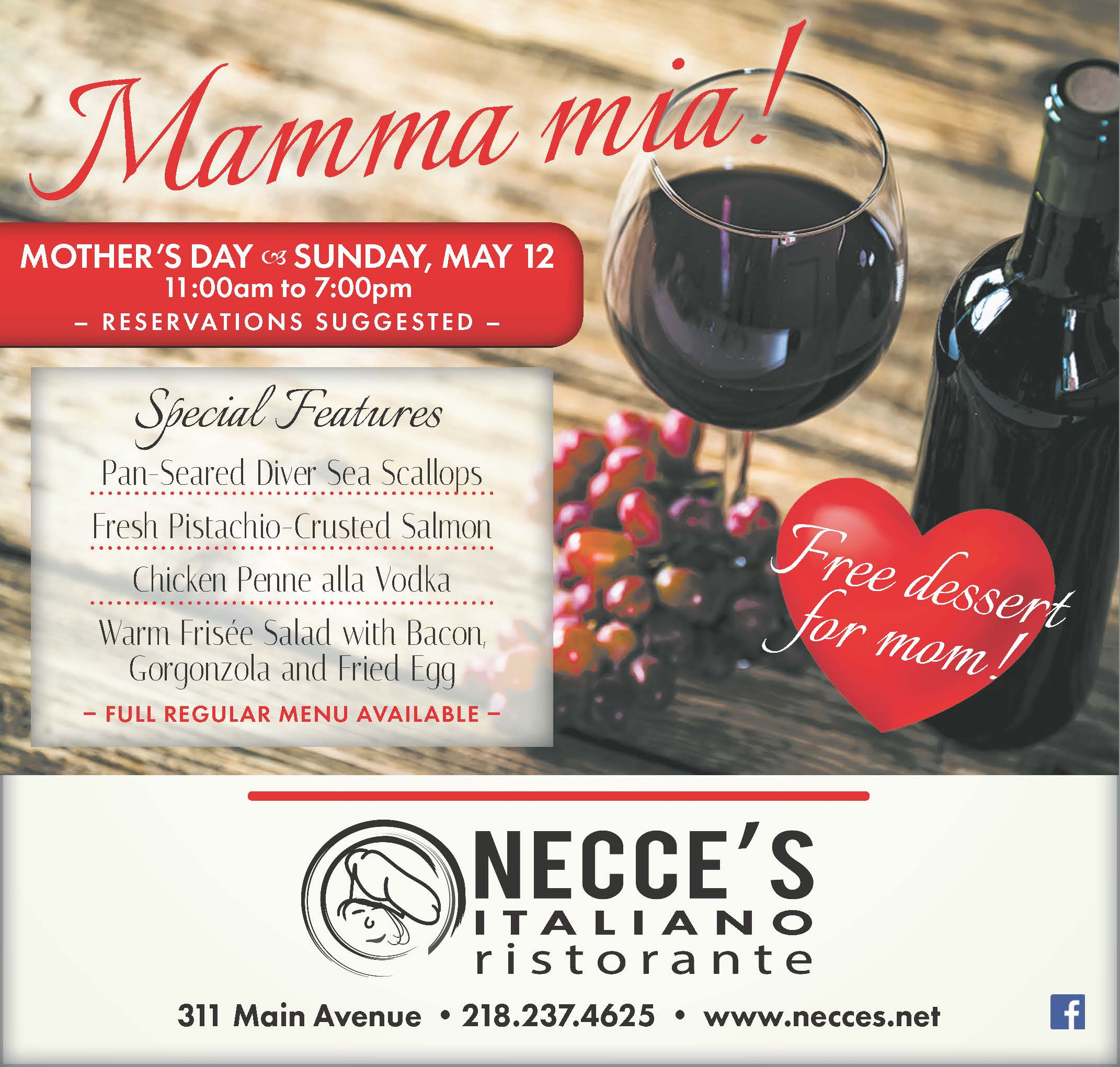 Easter Celebration at Necce's Ristorante