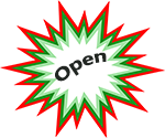 Open hours starburst