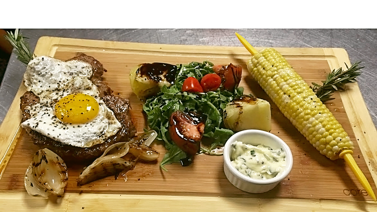 "<span style=""font-family: Allura; background-color: #f8e4a5; border-radius: 5px;"">Farmboard Grilled Ribeye </span>"